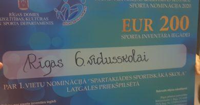 1. vieta Latgales priekšpilsētas starpskolu sacensību spartakiādē!